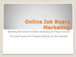 Job Board Advertising for MLM Leads